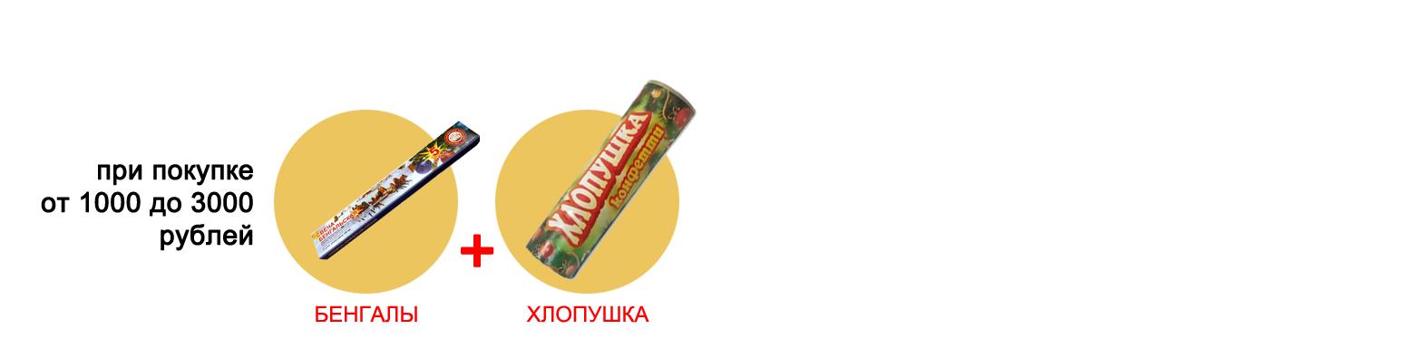 Подарки при покупке от 1000 до 3000 рублей