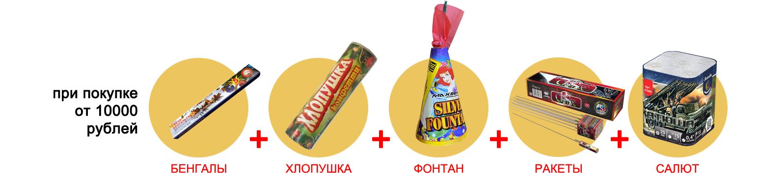 Подарки при покупке от 10000 рублей