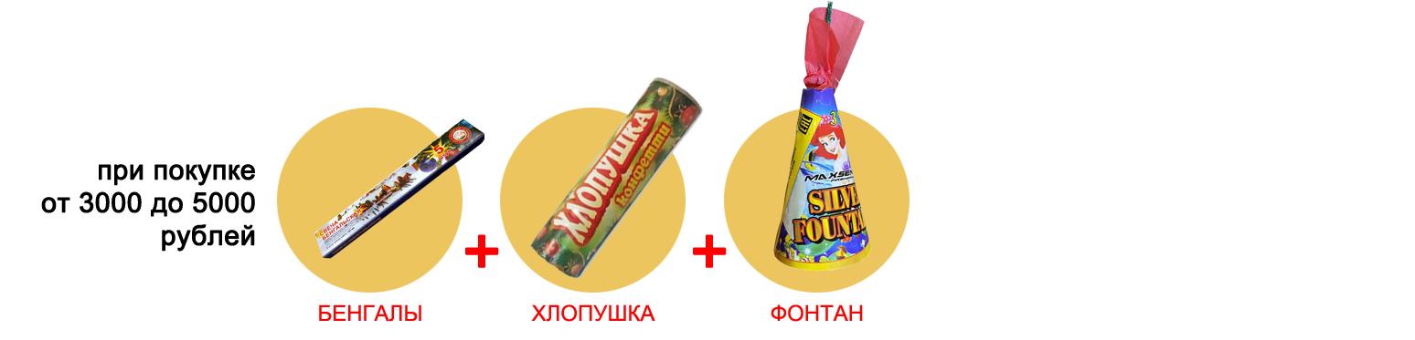 Подарки при покупке от 3000 до 5000 рублей